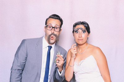 Bride and Groom Silly Photo Booth Photo